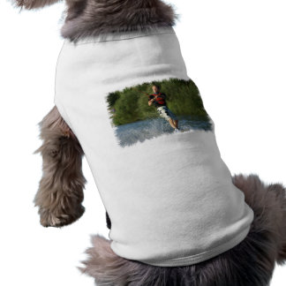 Camisa del mascota de Wakeboarding del lago Camisetas De Perrito