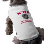Camisa del mascota del AFFENPINSCHER Playera Sin Mangas Para Perro