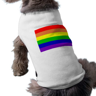 Camisa del mascota del arco iris playera sin mangas para perro