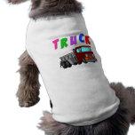 Camisa del mascota del camión camiseta de mascota