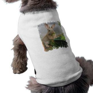 Camisa del mascota del conejo de conejo de rabo bl ropa de perro