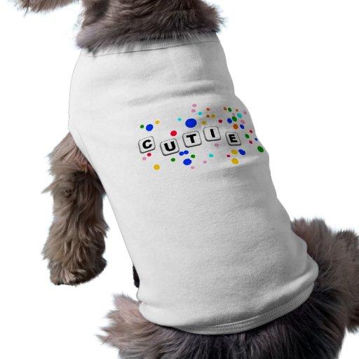 camisa del mascota del cutie camiseta de mascota