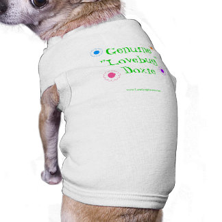Camisa del mascota del Dachshund de Lovebug con la Playera Sin Mangas Para Perro