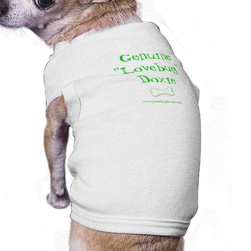 Camisa del mascota del Dachshund de Lovebug Ropa Perro