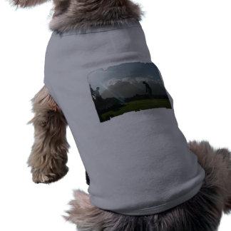 Camisa del mascota del diseño del golfista camisetas mascota