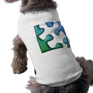 Camisa del mascota del diseño del rompecabezas playera sin mangas para perro