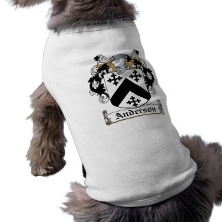 Camisa del mascota del escudo de la familia de And Camiseta De Perro