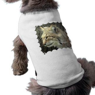 Camisa del mascota del gato del lince prenda mascota