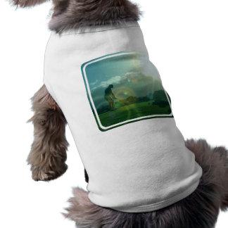 Camisa del mascota del golfista ropa de mascota