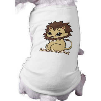 Camisa del mascota del león de Cutie Playera Sin Mangas Para Perro