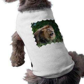 Camisa del mascota del león el gruñir camisetas de perrito