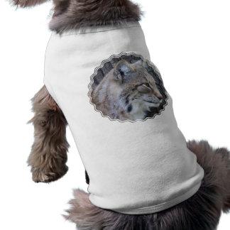 Camisa del mascota del lince camisas de perritos