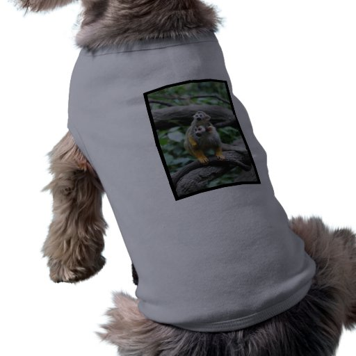 Camisa del mascota del mono de ardilla del bebé ropa perro