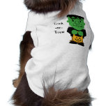 Camisa del mascota del monstruo de Frankenstein Camisas De Mascota