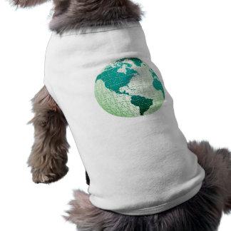 Camisa del mascota del mundo del rompecabezas playera sin mangas para perro