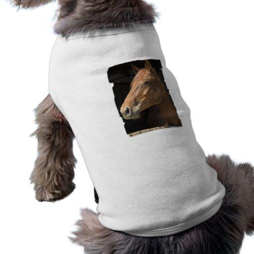 Camisa del mascota del perfil del caballo de la ca camiseta de perro