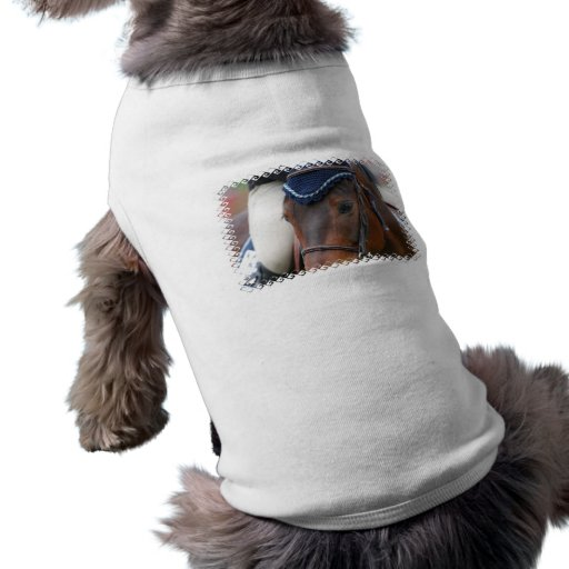 Camisa del mascota del perfil del caballo playera sin mangas para perro