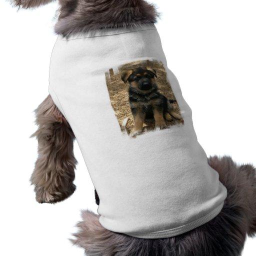 Camisa del mascota del perrito del pastor camisa de perro