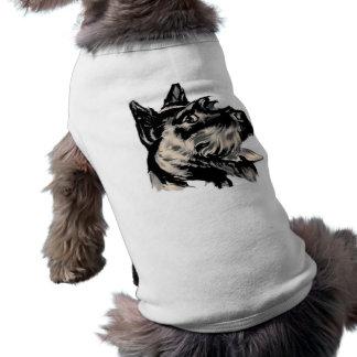 Camisa del mascota del perro de Scotty Camisa De Mascota