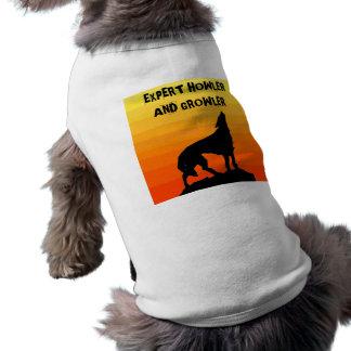Camisa del mascota experto del chillón y el gruñid playera sin mangas para perro
