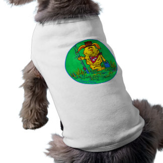 Camisa del mascota - pesca ida perro playera sin mangas para perro