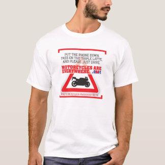 Camisa del mes de la conciencia de la motocicleta: