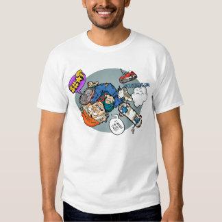 Camisa del monopatín de la goma