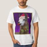 Camisa del navidad de la llama del drama - púrpura