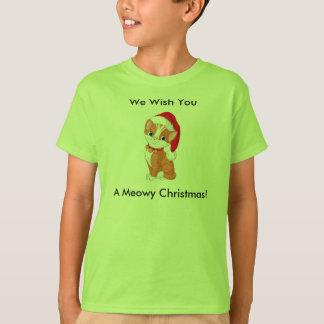 Camisa del navidad de Meowy de los niños