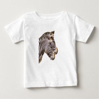 Camisa del niño de la cara de la cebra