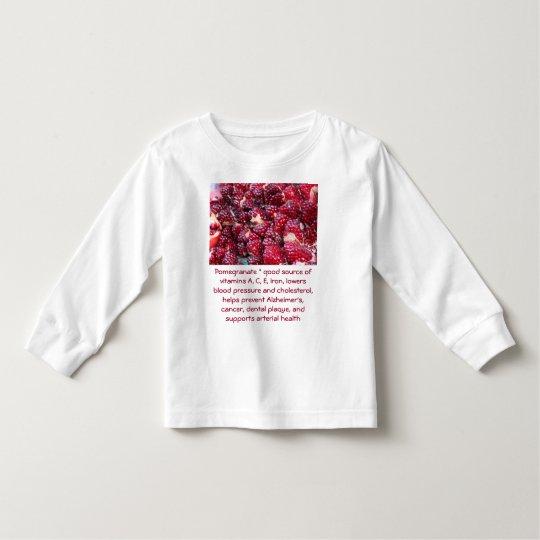 Camisa del niño de la granada