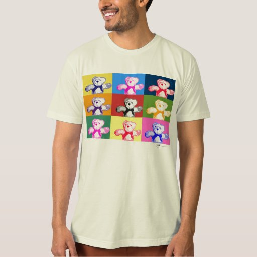 Camisa del niño de los peluches del arte pop
