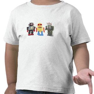 Camisa del niño de los robots del juguete del vint