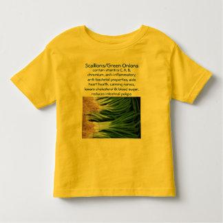 Camisa del niño de los Scallions/de las cebollas