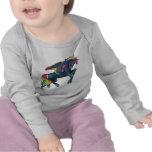 Camisa del niño de Pegaso del arco iris