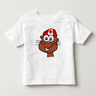 Camisa del niño del castor del día de Canadá