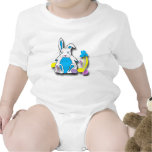 Camisa del niño del conejito de pascua