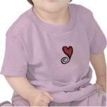 Camisa del niño del corazón de Swirly