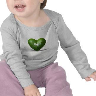 Camisa del niño del diseño del amante del golf