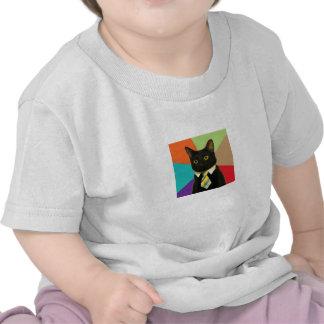 Camisa del niño del gato del negocio