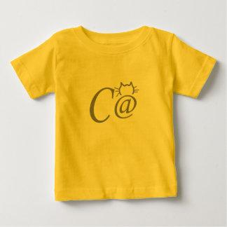 Camisa del niño del gato del símbolo del texto