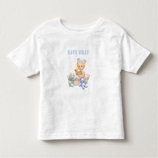 Camisa del niño del palo de golf de la marina de