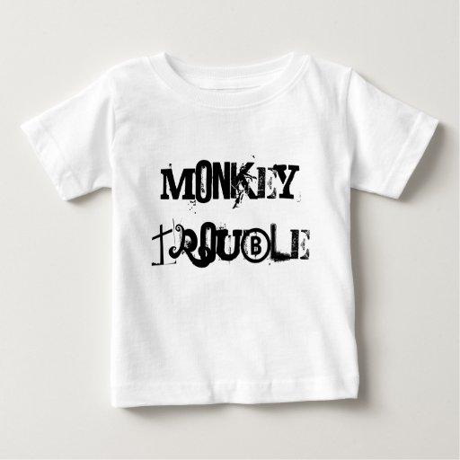 Camisa del niño del problema del mono