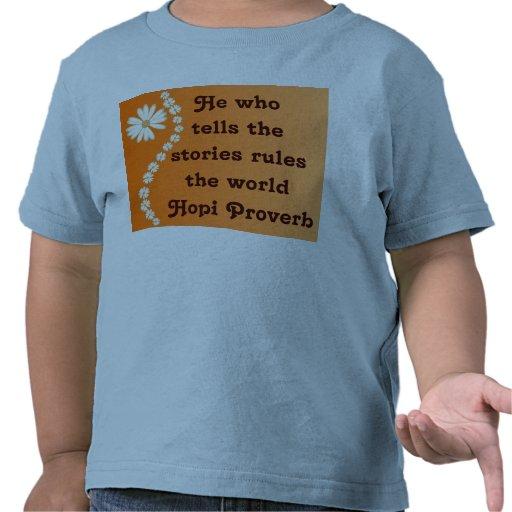 Camisa del niño del proverbio del Hopi