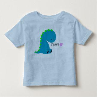 camisa del niño del rawr del dinosaurio