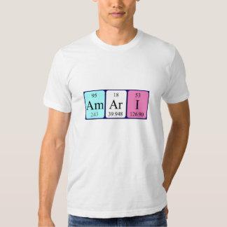 Camisa del nombre de la tabla periódica de Amari