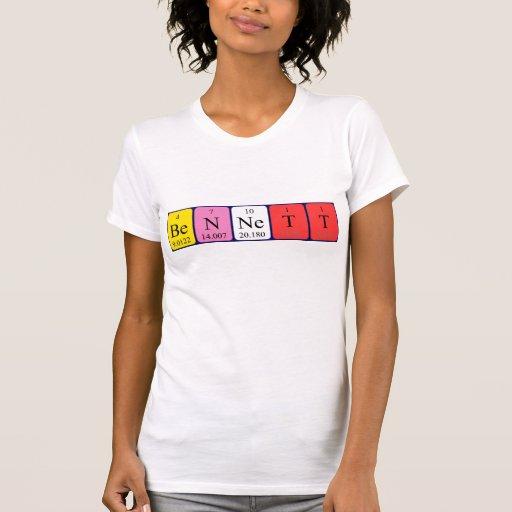 Camisa del nombre de la tabla periódica de Bennett