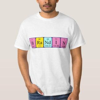 Camisa del nombre de la tabla periódica de Brandin