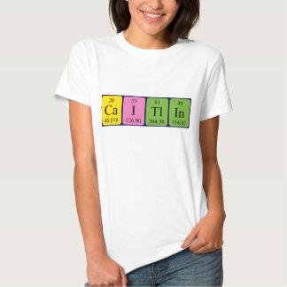 Camisa del nombre de la tabla periódica de Caitlin