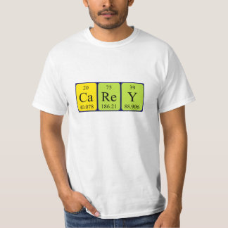 Camisa del nombre de la tabla periódica de Carey